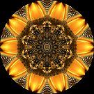 Golden Digital Flower Kaleidoscope 06 by fantasytripp