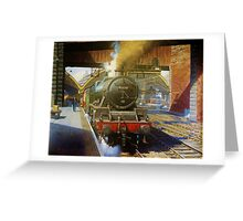 Jubilee 4-6-0 at Liverpool, Lime Street Greeting Card