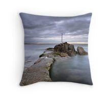 Bullock Harbour, Dalkey, County Dublin. Throw Pillow