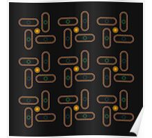 Light and Power Geometric Pattern Poster