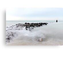 The breakwater... Canvas Print