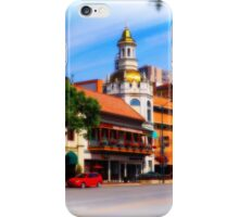 Figlio's on the Country Club Plaza, Kansas City, Tilt-Shift, Blur iPhone Case/Skin