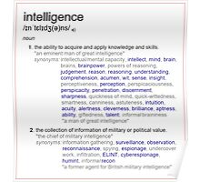 What intelligence means ? Poster