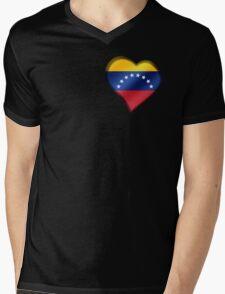 Venezuelan Flag - Venezuela - Heart Mens V-Neck T-Shirt