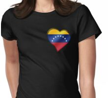 Venezuelan Flag - Venezuela - Heart Womens Fitted T-Shirt