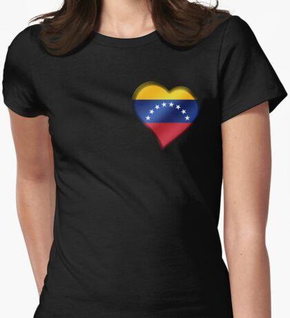 Venezuelan Flag - Venezuela - Heart Womens Fitted T-Shirt