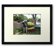 Moo and me enjoying a sunny day Framed Print