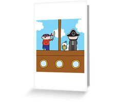 Pirates - Print, Card & Poster Greeting Card