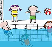 Pool - Print, Card & Poster by oekies