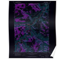 USGS Topo Map Oregon OR Troy 281879 1967 24000 Inverted Poster