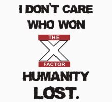 Humanity lost the X factor by nimbusnought