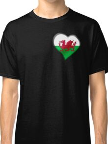 Welsh Flag - Wales - Heart Classic T-Shirt