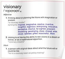 Who is a visionary ? Poster