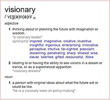 Who is a visionary ? Photographic Print