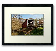 The Hills Covered Bridge Framed Print