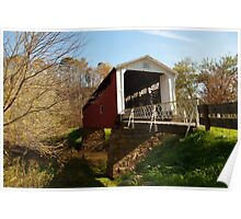 The Hills Covered Bridge Poster