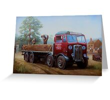 AEC Mammoth Major London Brick. Greeting Card