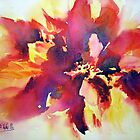 Abstract Poinsettia by Bev  Wells