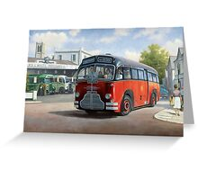 Midland Red C1 coach. Greeting Card