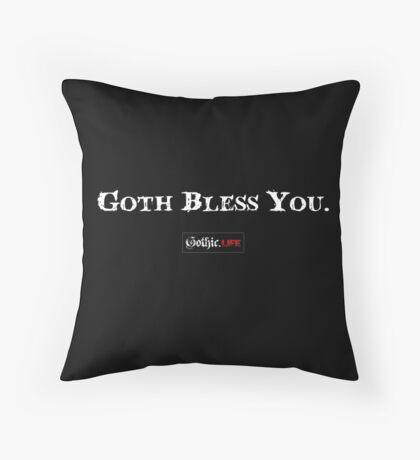 Goth Bless You Throw Pillow