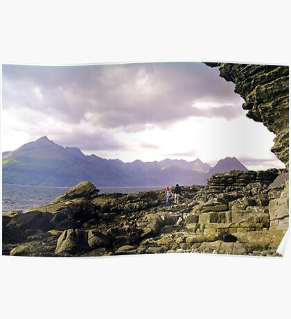 cuillins on Skye from elgol Poster
