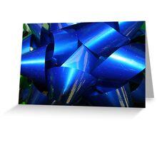Big Blue Bow Greeting Card