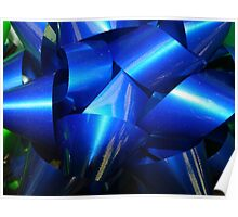 Big Blue Bow Poster