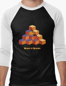 Q*Bert and Q*ernie Men's Baseball ¾ T-Shirt