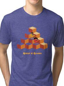 Q*Bert and Q*ernie Tri-blend T-Shirt