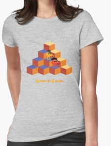 Q*Bert and Q*ernie Womens Fitted T-Shirt