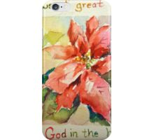 Poinsettia Good News of Great Joy iPhone Case/Skin