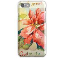 Poinsettia Good News of Great Joy iPhone Case/Skin
