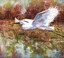 Egret Off-shore by Peter R Davidson
