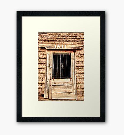 Western Jail House Door Framed Print