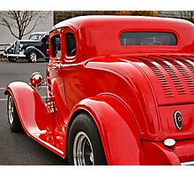 Red Coupe Photographic Print