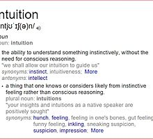 What is intuition ? by santoshputhran