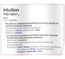 What is intuition ? Poster