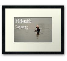 sunk Framed Print