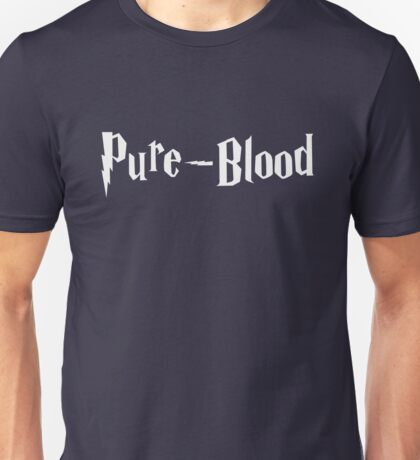 Pure-Blood (white text) Unisex T-Shirt