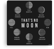 That's No Moon - Death Star Phases Canvas Print