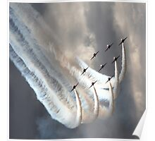 Red Arrows in Diamond Formation Poster