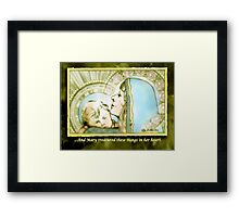 Mary Pondered Framed Print