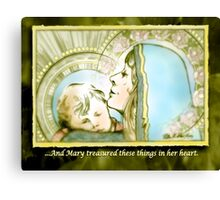 Mary Pondered Canvas Print