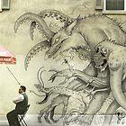 Monster Graffiti by Schlitzie