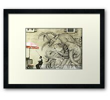 Monster Graffiti Framed Print