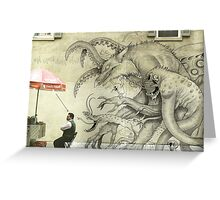 Monster Graffiti Greeting Card
