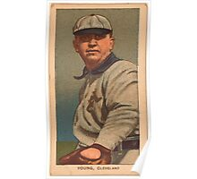 Benjamin K Edwards Collection Cy Young Cleveland Naps baseball card portrait 001 Poster