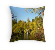 The waterfall between the trees II Throw Pillow