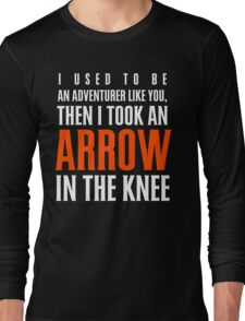Arrow in the Knee - Text Only Long Sleeve T-Shirt