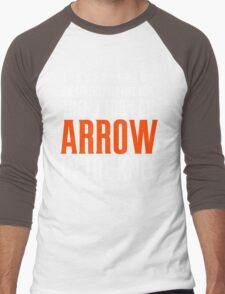 Arrow in the Knee - Text Only Men's Baseball ¾ T-Shirt